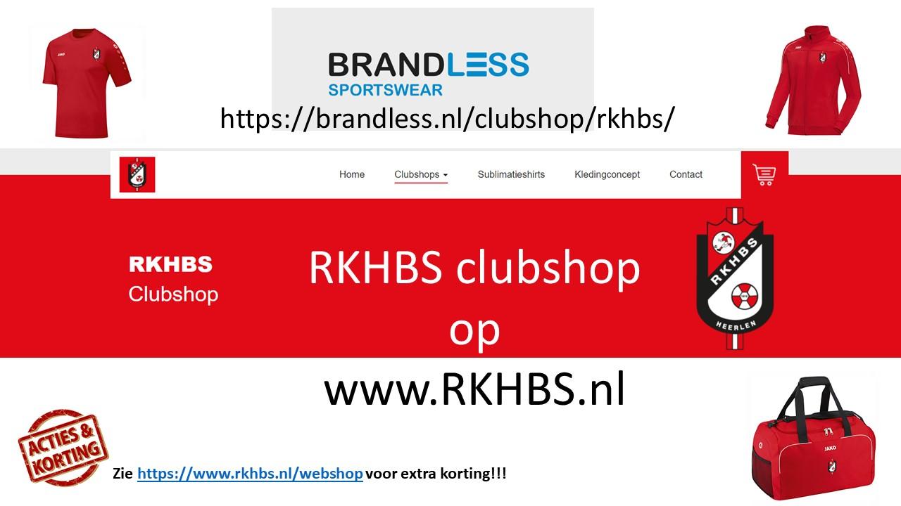 Vernieuwde webshop voor al je RKHBS kleding