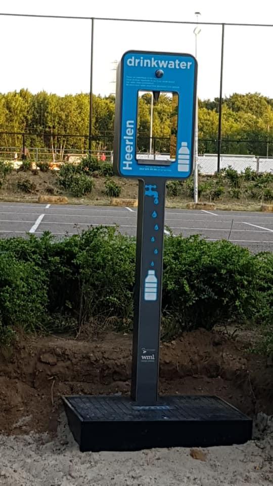 Drinkwaterpunt bij parkeerplaats